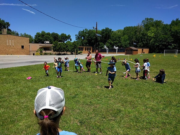 Kids playing in a Summer Camp at the French American Academy.