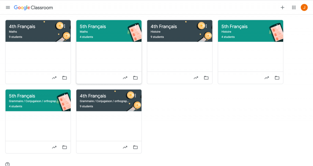 Google Classroom to find all assignments and directions