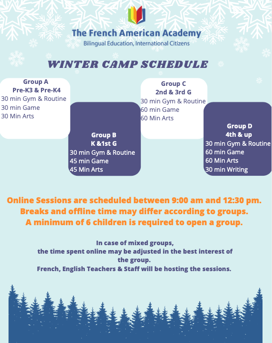 page 3 of the winter camp 2021 leaflet