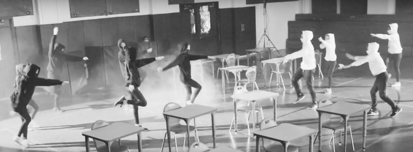 Students of The French American Academy performing the AEFE Dance Challenge